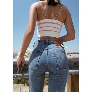 Levi s 512 High Waisted Mom Jeans Tapered Slim Fit 823aa1260c